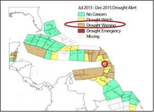 2015 Drought Alert Map