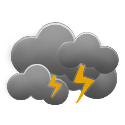 Cloudy and windy with thunderstorms